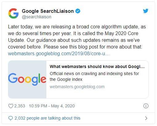 الگوریتم 4 می گوگل