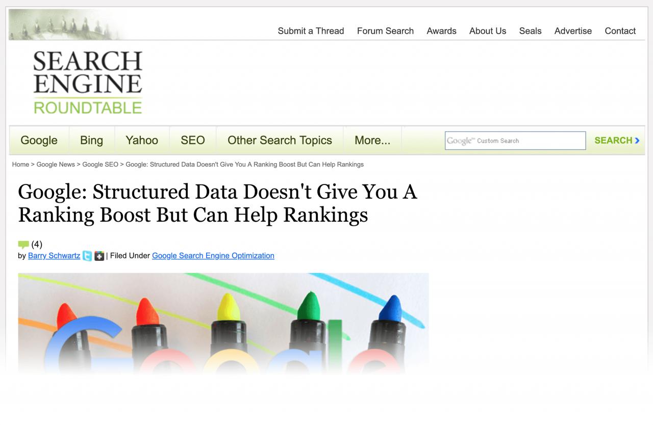 نظر گوگل درباره rich snippet