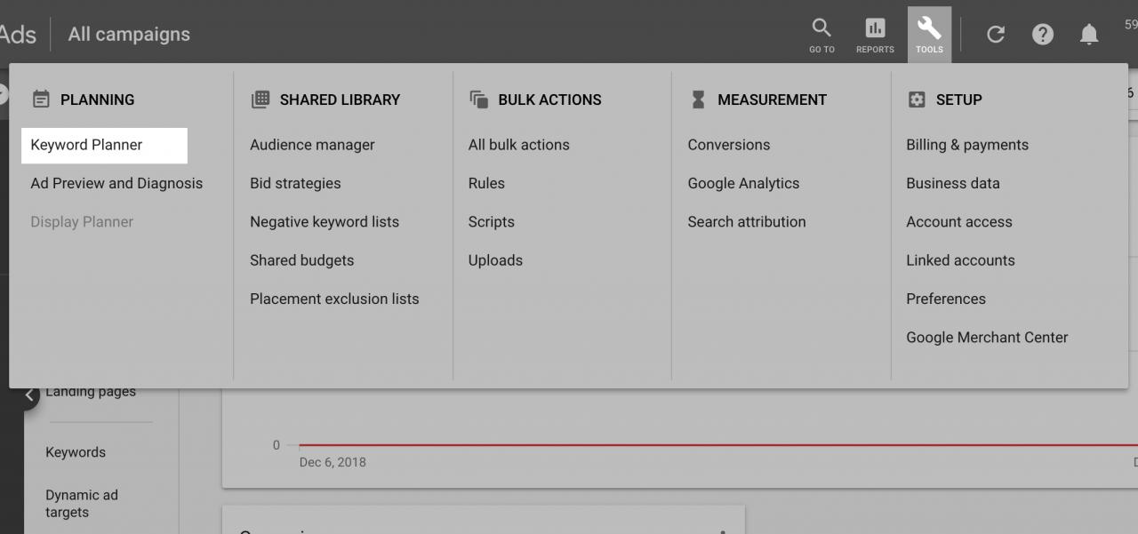 انتخاب کلمات کلیدی با google keyword planner
