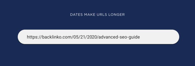 تاریخ ها در URL