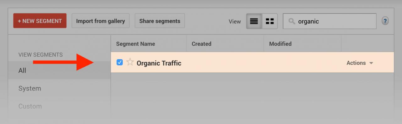 بخش organic traffic در گوگل آنالیتیکس