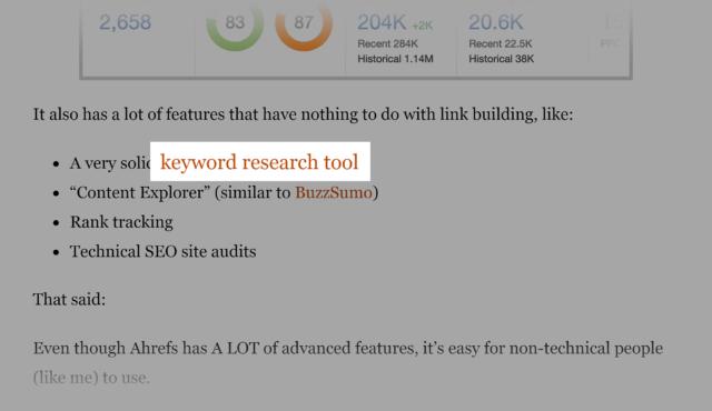 لینک سازی داخلی در بخش های مختلف صفحه