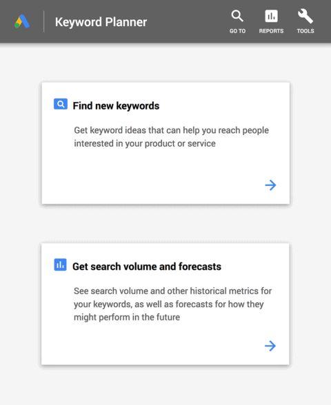 ابزار کلمات کلیدی google keyword planner