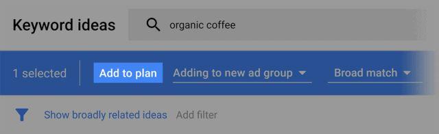 اضافه کردن پلن در google keyword planner