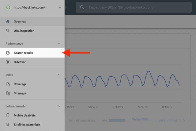 بررسی کلمات کلیدی در google search console