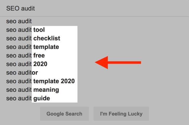 پیشنهادات کلمات کلیدی lsi گوگل