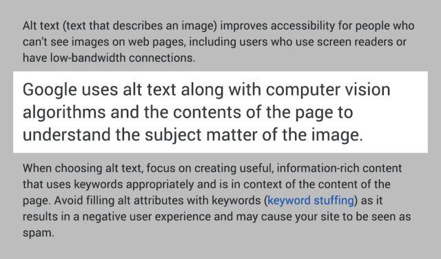 الگوریتم تصاویر گوگل
