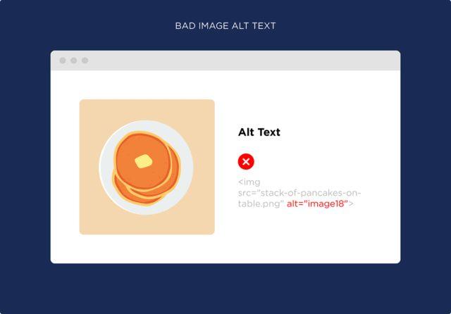 نمونه متن جایگزین بد تصویر