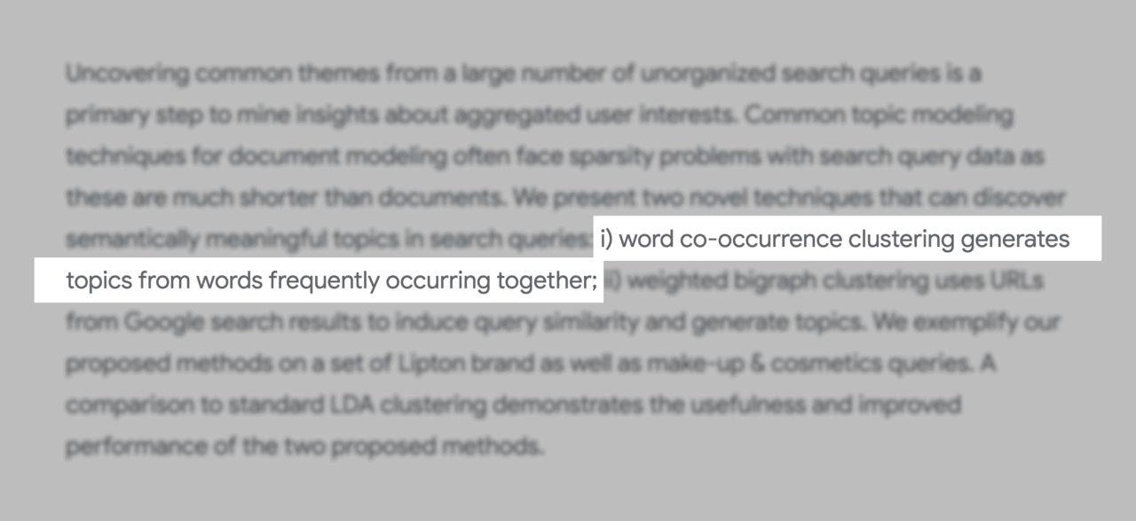 توضیح گوگل درباره کلمات کلیدی lsi